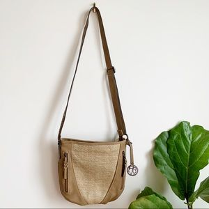Hilary Radley New York Tan Vegan Crossbody Bag